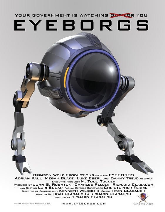 Eyeborgs      Batteries Not Included robots go rogue.   In the future, hipster kids still wear tuxedo tshirts   News report graphics are still shitty in the future.   Exotic Car Wash