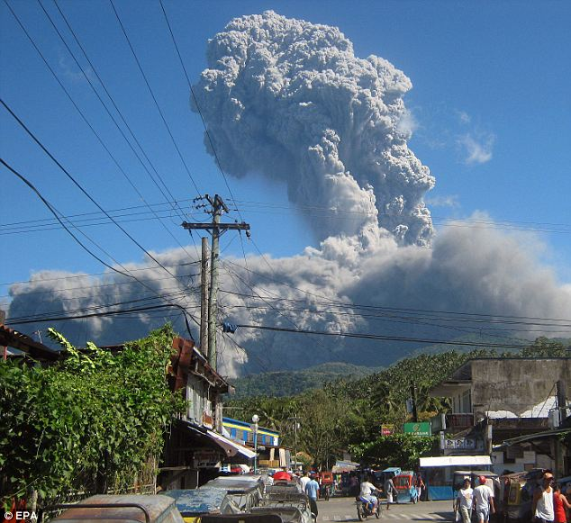So this has happened. Mt. Bulusan in the Philippines erupted on Monday in my dad's hometown. My parents are out there visiting, but I'm honestly not really sure where they are in the country. While I'm sure they're fine (only 1 confirmed death from ash inhalation), it would be great if they answered their phone or call to confirm. Alas, they're old and technologically inept and probably have their phone off.