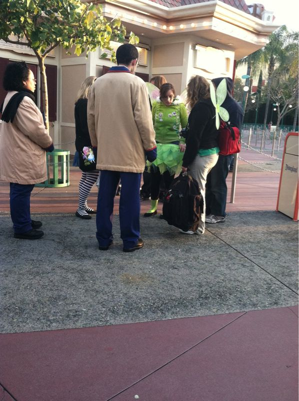 … Girl was just denied entry due to what she was wearing. She bought the tinkerbell skirt at downtown Disney.