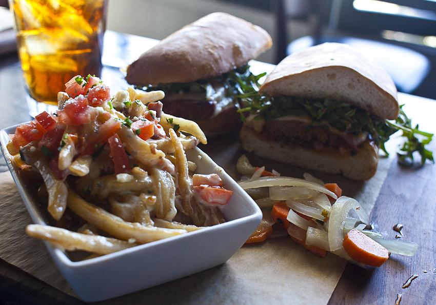 Upper West | Santa Monica, CA | 02.09.11    Bleu Cheese Fries & Meat Loaf Sandwich