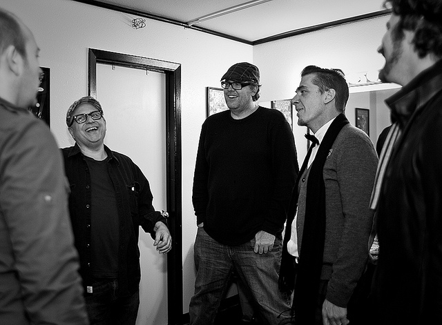 SF Sketchfest | Maximum Volume | 01.21.11    Brendon Small, Bobcat Goldthwait, Steve Agee, Greg Behrendt, and Matt Nathanson backstage at Cobb's Comedy Club.