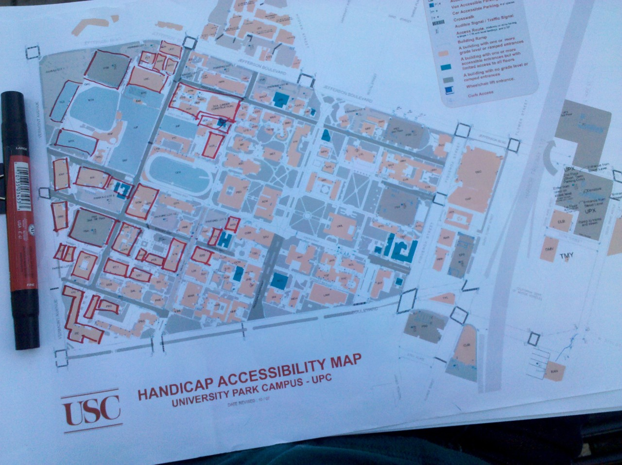 USC site visit | Day 02.  I haven't made a dent in covering this map. On another note, I'm going to know this campus well enough to hide a body.