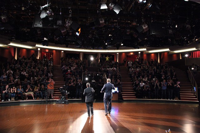 The view from the Conan stage. With Jimmy Pardo & Andy Richter (via team coco)