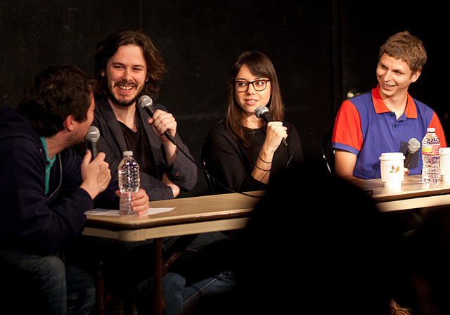 UCB-LA | Doug Loves Movies | 10.02.10    Doug Benson discusses Scott Pilgrim with Edgar Wright, Aubrey Plaza, and Michael Cera.
