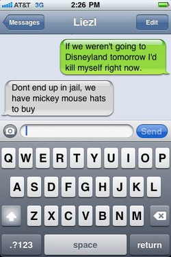 I'm treating myself to a mickey mouse hat with my name on it.   I can't let jail time get in the way of that happening.    darthvalley :     Priorities.