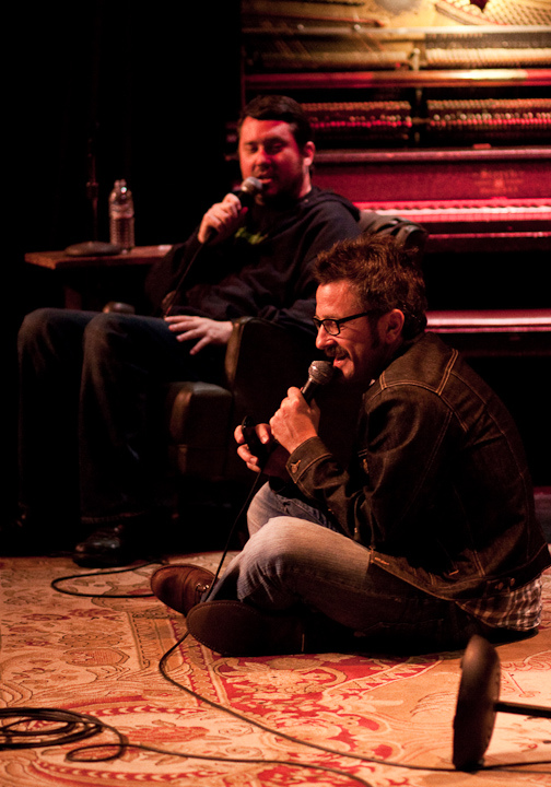 Largo | Benson Interruption | 08.09.10    When Marc Maron doesn't find a chair on stage, he makes himself comfortable on the floor.