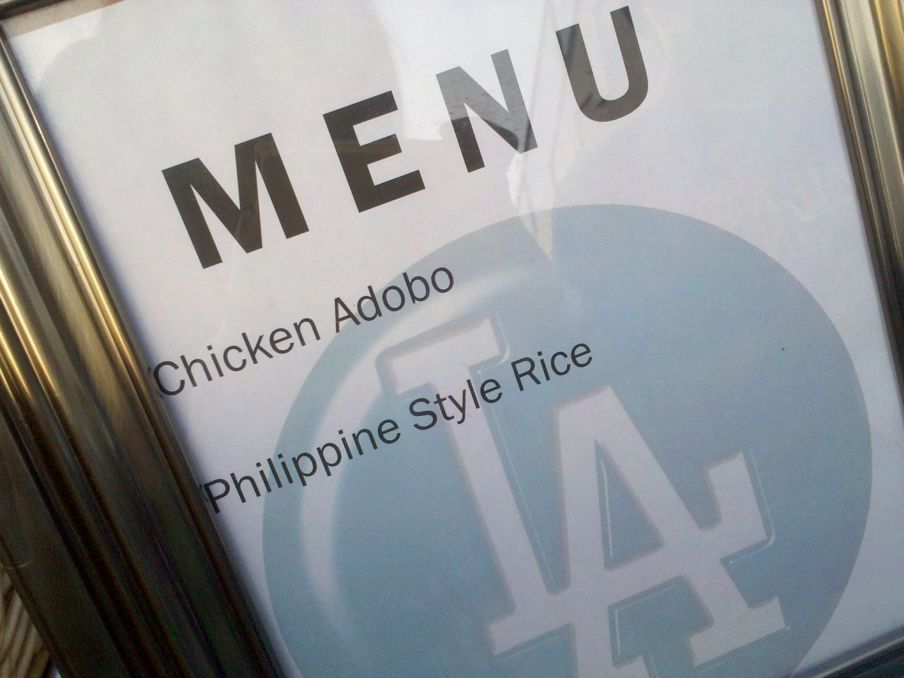 Apparently by chicken adobo they mean teriyaki chicken. YOU CAN'T FOOL ME.