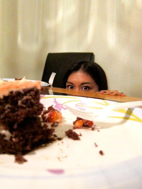 stalking the cake…