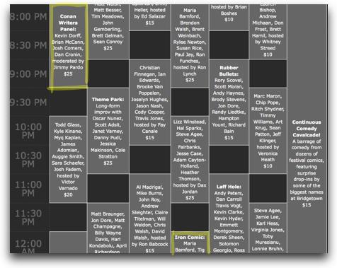 Bridgetown Schedule | Friday 04.23.10     too.. much… going… on…