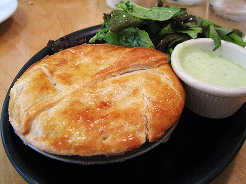 Woodspoon  chicken pot pie.      I saw this last night on Best Thing I've Ever Eaten on the Food Channel, and have decided I need to eat this soon, if not tonight.      (photo via  potatomato )