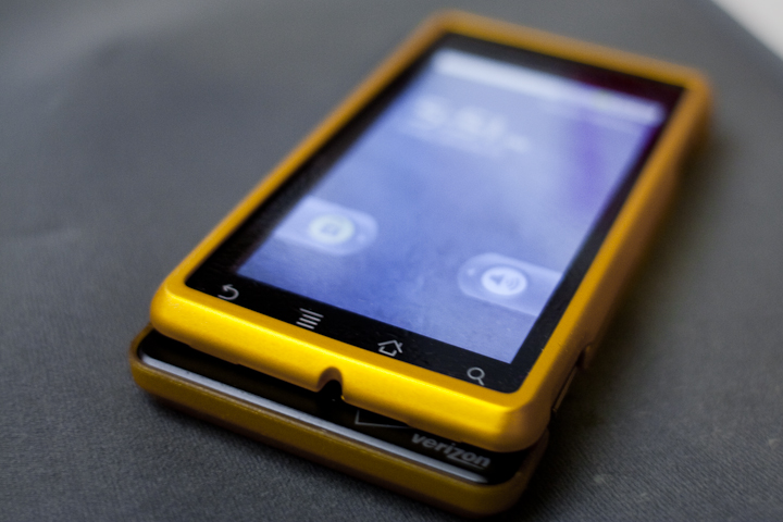 Innocase by Seidio in Autumn Gold for my droid.  It's nice and bright like a gold bar from Scrooge's vault in Ducktales.