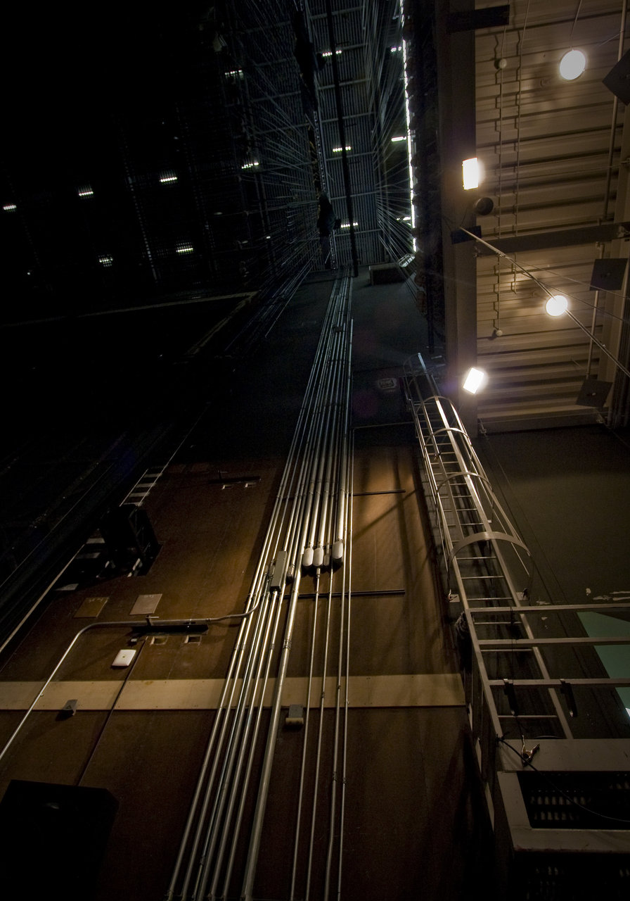 Backstage | OCPAC | 08.30.09 ceiling view.