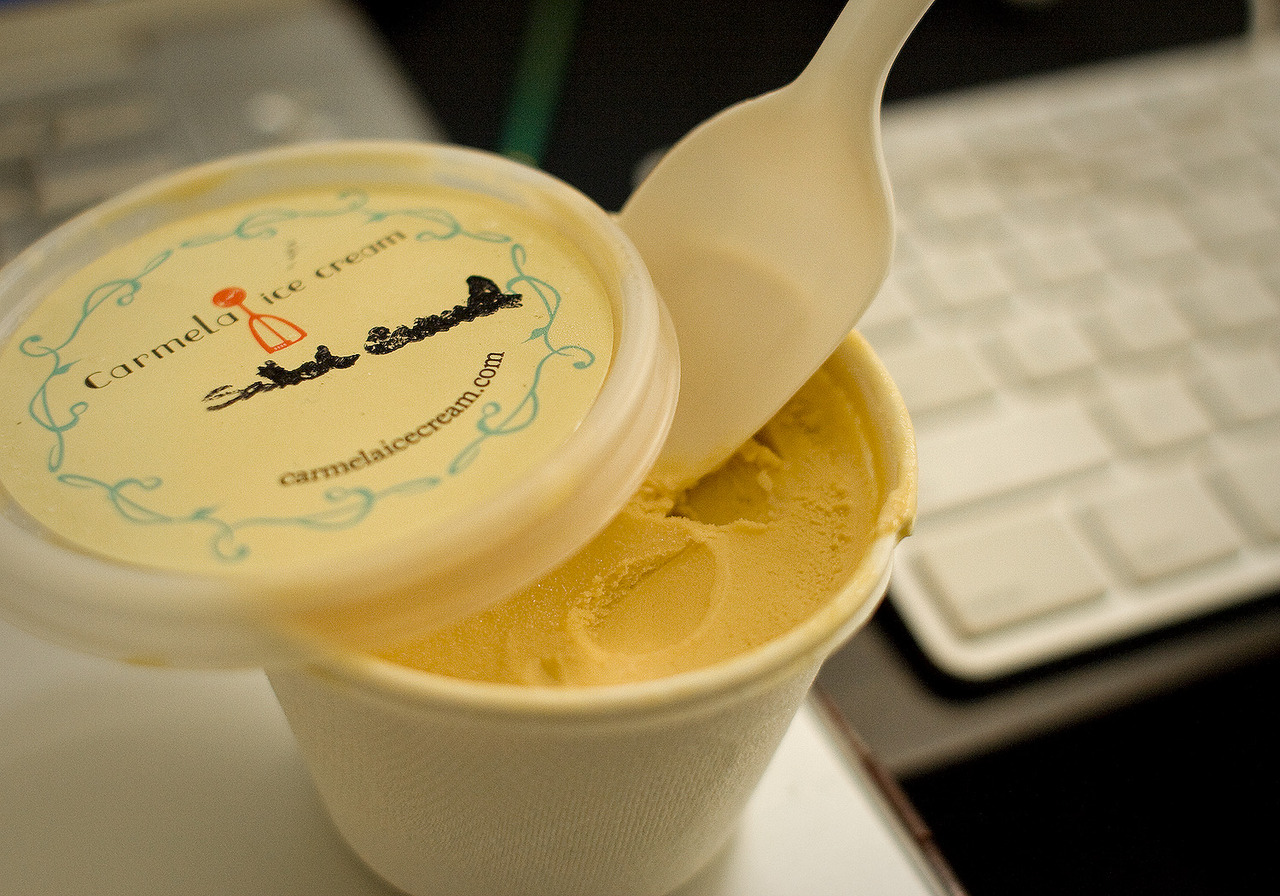 holy mother of god… May I introduce you to Carmela's Salted Caramel Ice Cream… Only found in 4 stores and 4 Farmers Markets in Los Angeles, but definitely worth hunting down. Our dynamic flavor palate focuses on garden-inspired ingredients such as herbs & spices, flowers, nuts & seeds and fruits. We use seasonal, local and organic ingredients and never use colorings or flavorings.