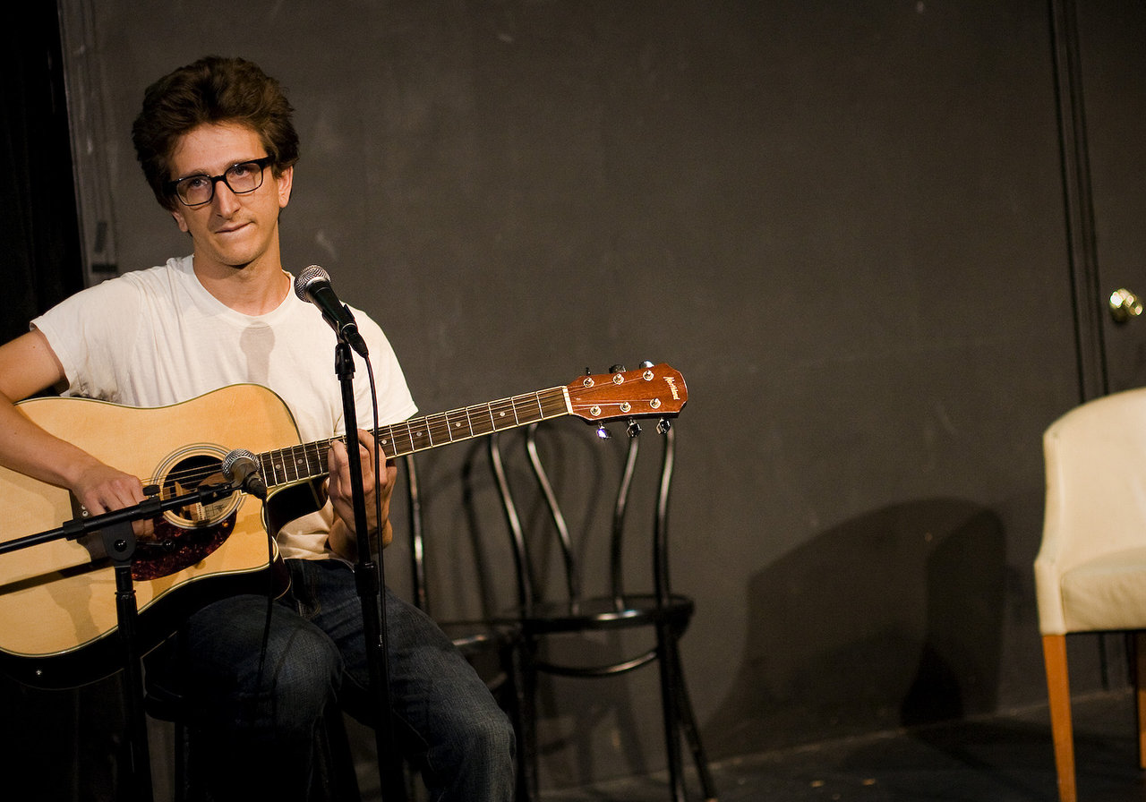 UCB-LA | Badger's Promise | 07.26.09      Paul Rust  plays uses his stage time to play a serious song. I was hoping he'd talk a bit about Inglorious Basterds, especially after hearing about the trainwreck of an audition  Armin went through, but it wasn't mentioned at all. However, he did mention what it was like to kiss Hayden Panettierre… which I won't repeat because it will probably end up on defamer or some awful site as truth… but it was pretty hilarious.