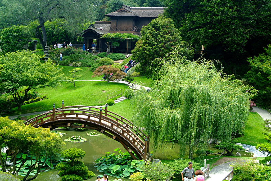 Huntington Library | Japanese Gardens | San Marino, CA It's been a good 13 years since I've been to the Huntington Library, but I have just made reservations for their fancy pants Rose Tea Room for scones and sandwiches. I feel like I should wear some lacy white gloves or a pill box hat with feathers or a stuffed bird on it. (photo via flickr)