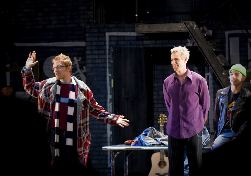 Rent | San Diego, CA | 03.14.09 OBC members Anthony Rapp & Adam Pascal After the performance, a live auction for a backstage tour and photo op with the cast was sold to two people for $3000 a piece. Since when do Rentheads have that kind of money to burn?