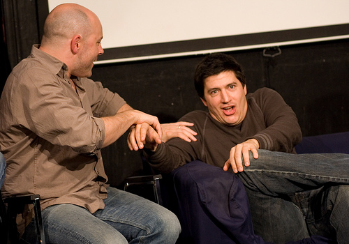 UCB-LA | Sunday Bloody Mary Sunday | 12.07.08  The Children's Hospital Show     Rob Corddry demonstrating Nurse Maid's Elbow to Ken Marino.