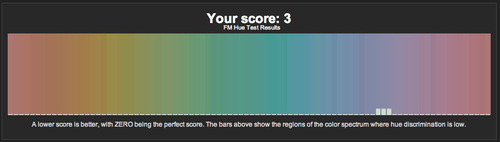 I may be blind, but I still know my hues… (the lower the score.. the better, with 0 being a perfect score)