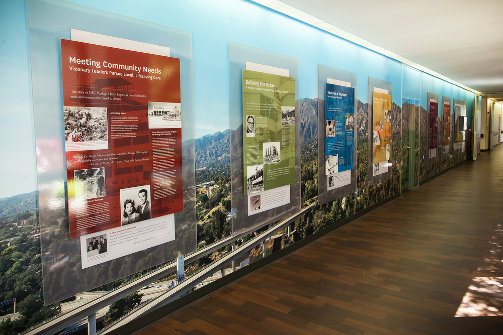 Verdugo Hills Hospital History Wall