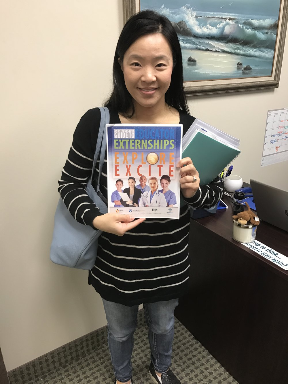 Teacher, Grace Chung during her externship.