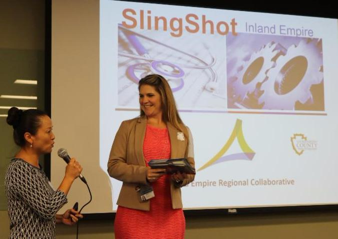 T. Kim Pham and Stephanie Murillo answer questions about SlingShot from the audience.