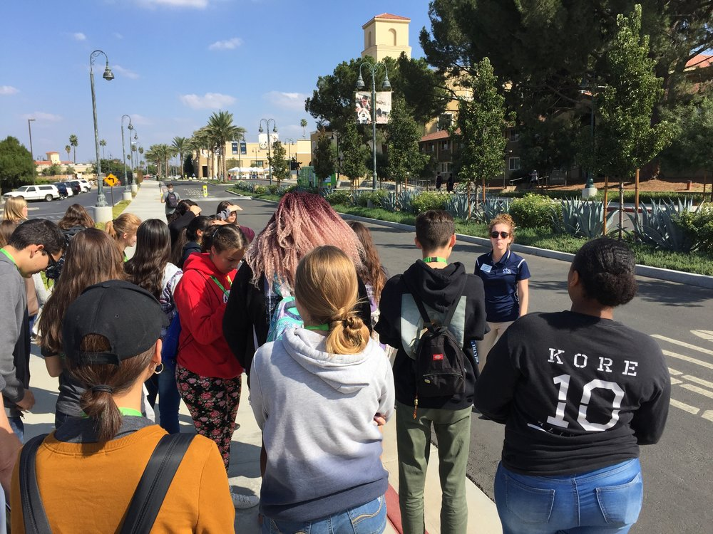 Campus tour for Cajon PEP students.
