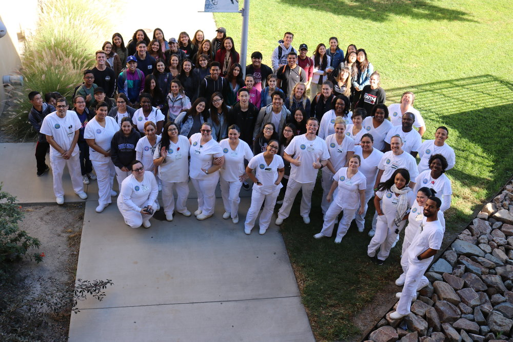 Ayala HS students with SBVC nursing class.