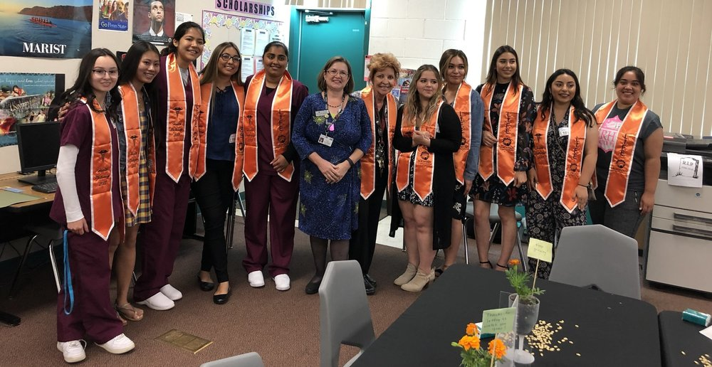Each student received a special LIFE stole to wear at their HS graduation.