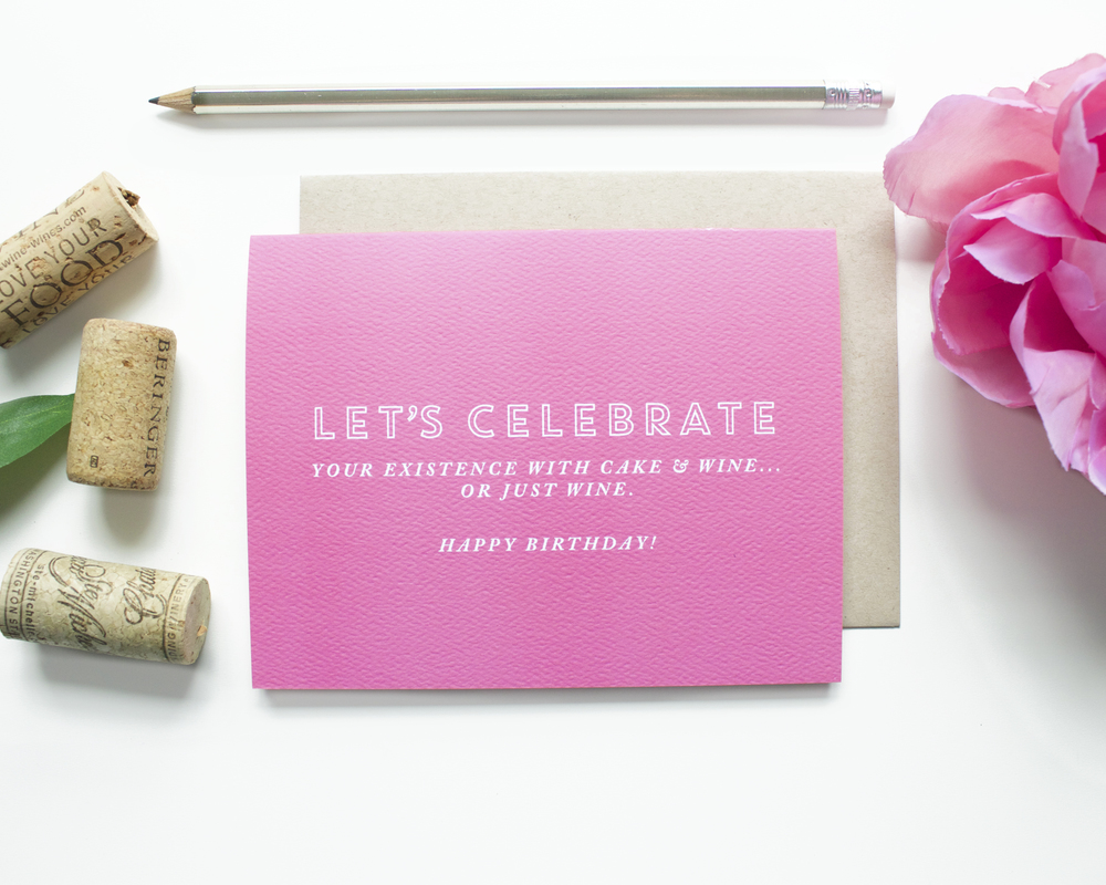 """Let's Celebrate"" card // shop here"