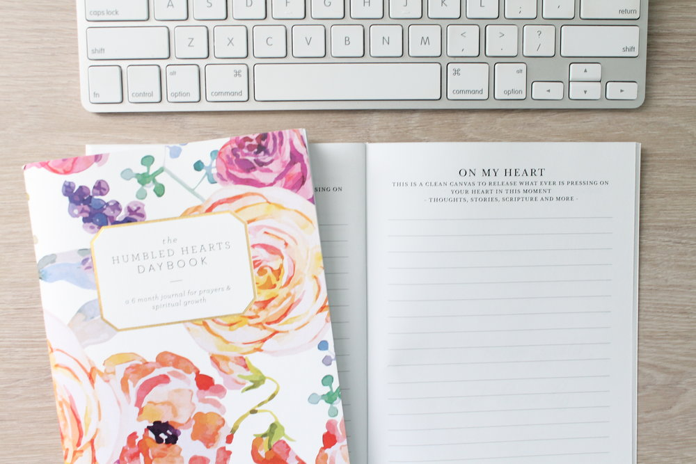 Humbled Hearts Daybook Prayer Journal (floral) - $15