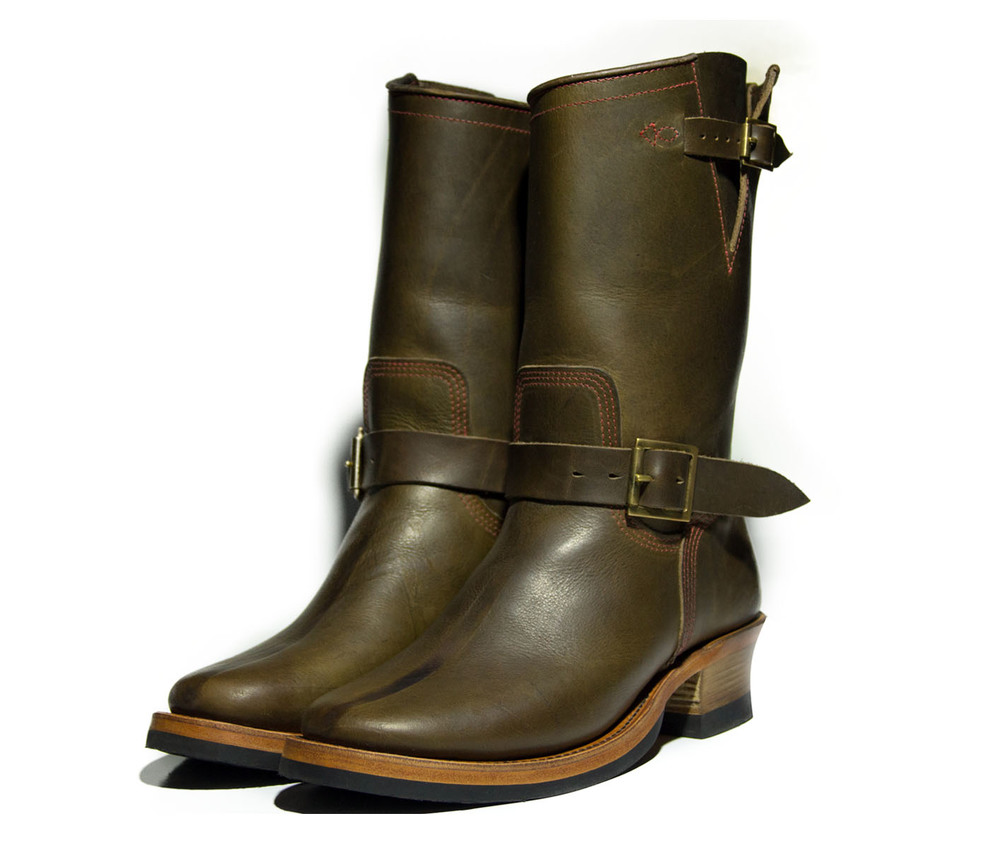 Dark Olive Steerhide Engineer Boots  (click for more info)
