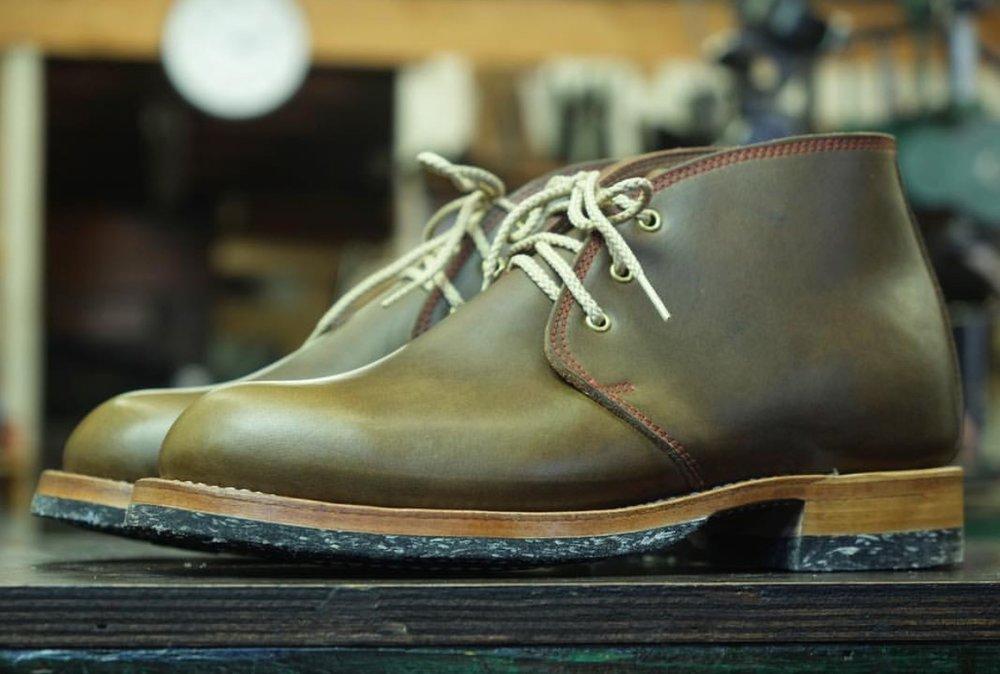RC Corded Halfsoles and Heels  Low Block Heel  Nature Edge FInish