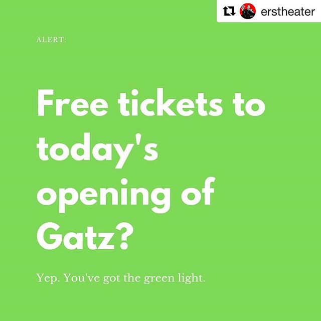 GIVEAWAY! We have a pair of amazing seats to today's 2 PM marathon opening performance of #GATZ at @nyuskirball and we want you to have them. For free.  How to win? You have one hour to send an email to event@elevator.org with the words GREEN LIGHT. Contest closes promptly at 11:45 AM EST. The winner will be chosen at random and will need to be in the theater at 2 PM ready to relive Gatz with us until we exit the theater 8 hours later. You've got the green light now - go!