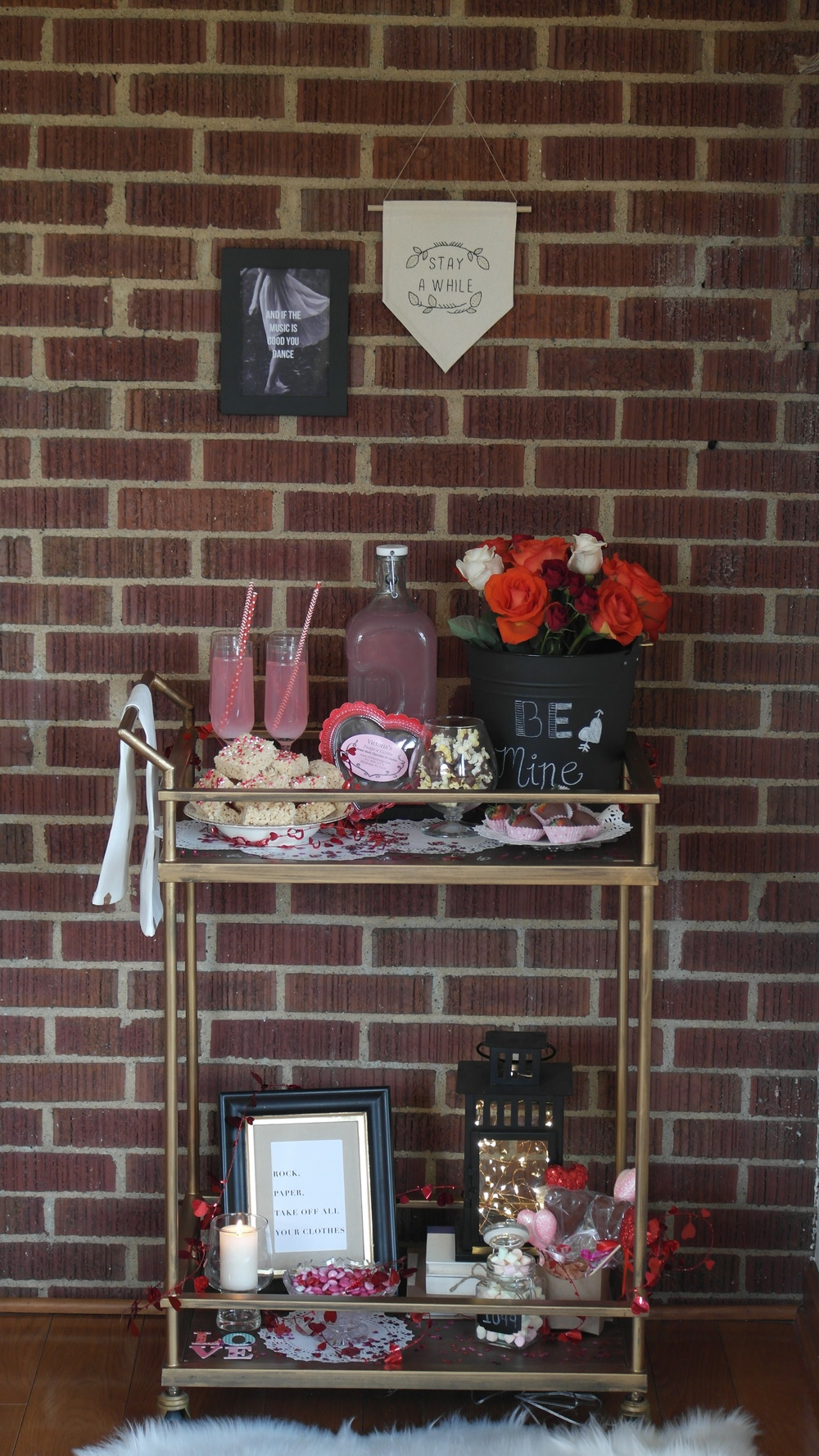 Valentine's Day Dessert Bar Cart