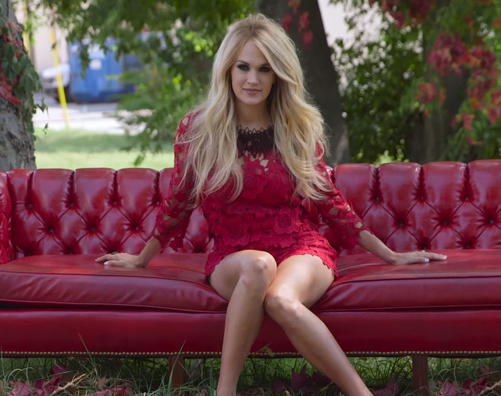 Carrie Underwood wears the Florens, Tangens and Stria Necklace in a Parade Magizine photoshoot. Styled by Emma Trask.