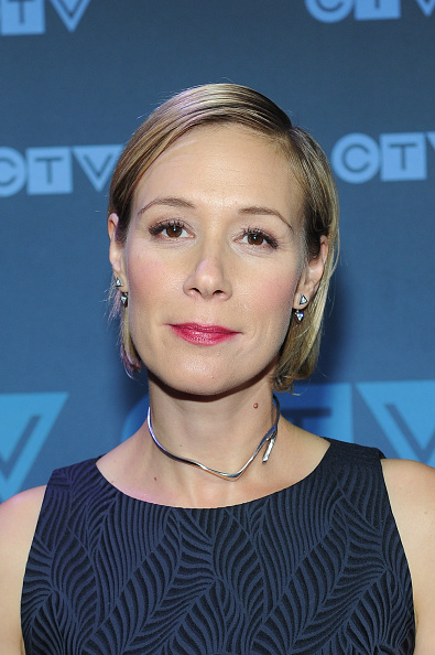 Liza Weil wears the Prelude Choker in Sterling Silver at the CTV Upfronts.  Styled by Ashley Zohar.