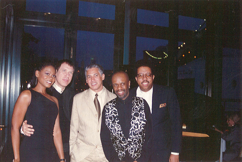 From left: Heather Headley, Gary Haase, David Spinozza, Leon Pendarvis, Ray Williams.