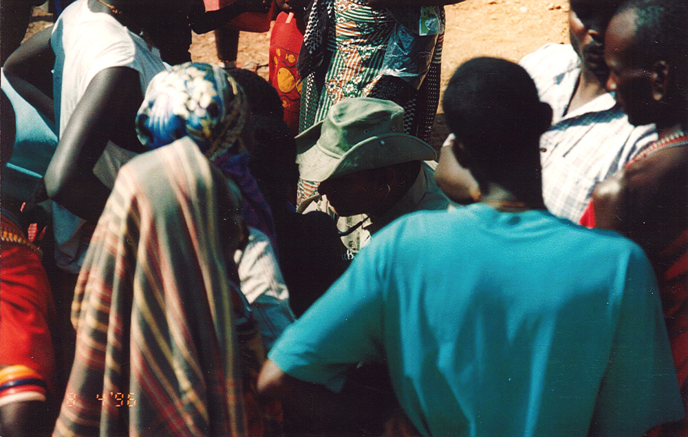 Treating Samburu at refugee camp.jpg