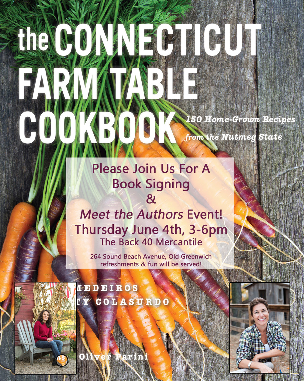 CT Farm Table Cookbook Signing