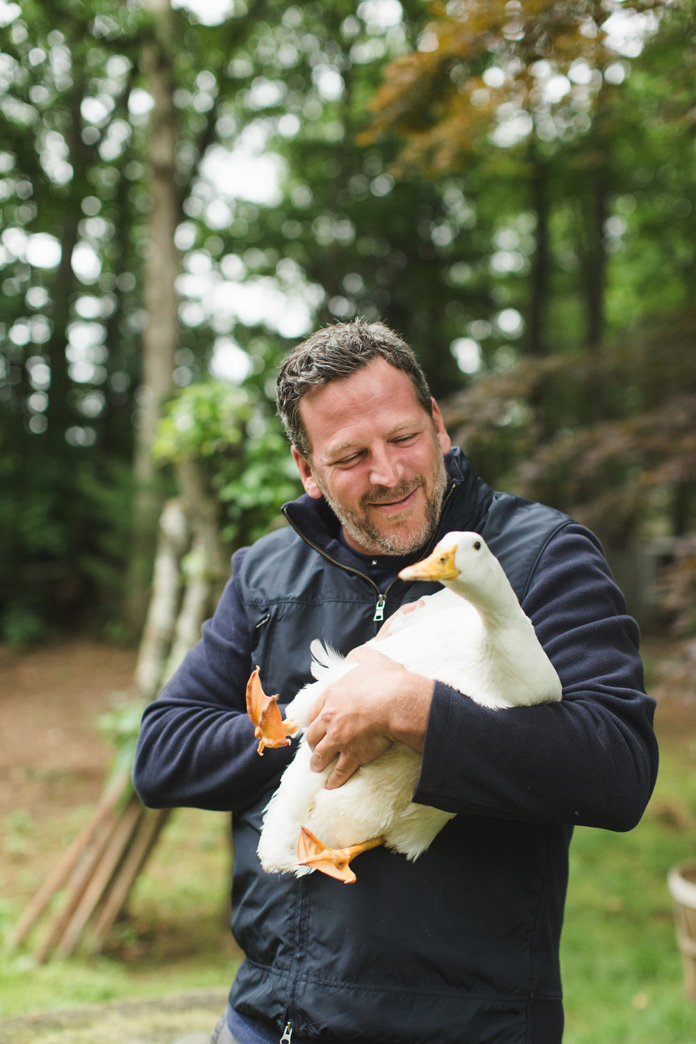 Bill Taibe and duck | Photo by Ashley Caroline