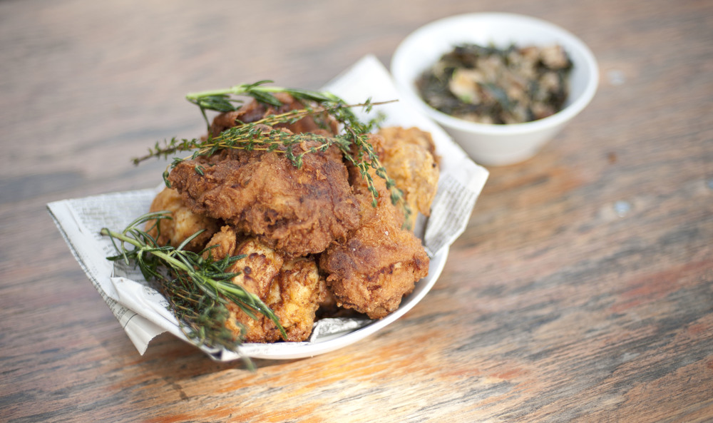 Cafemantic's Buttermilk Fried Chicken from The Connecticut Farm Table Cookbook || CTEatsOut.com
