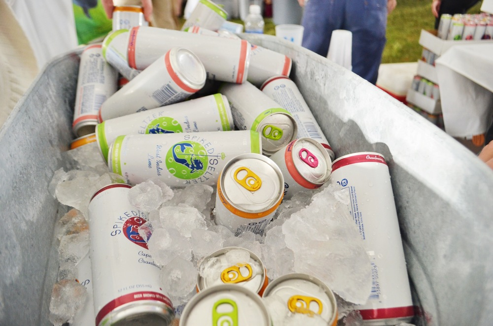 Nowalk's  SpikedSeltzer  was in attendance pouring samples of their signature flavors