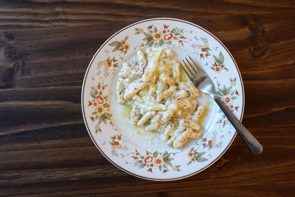 Chef Matt Wick's Recipe for Cavatelli with Guanciale, Lemon, Ricotta and Marjoram | CTEatsOut.com