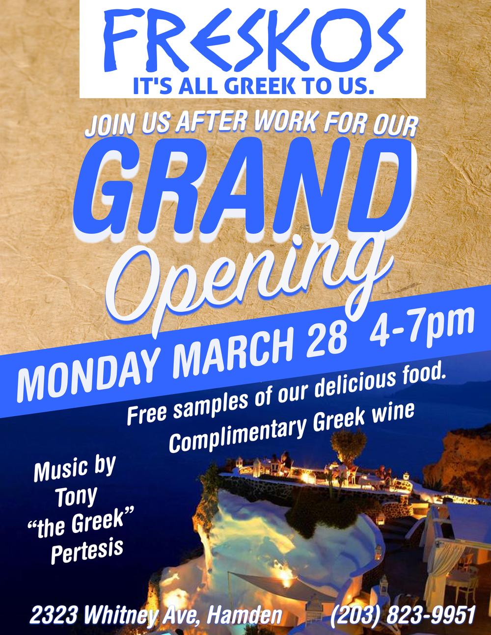 Freskos Grand Opening