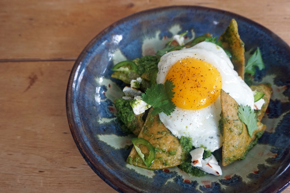 oink pop-up's cinco de mayo chilaquiles recipe