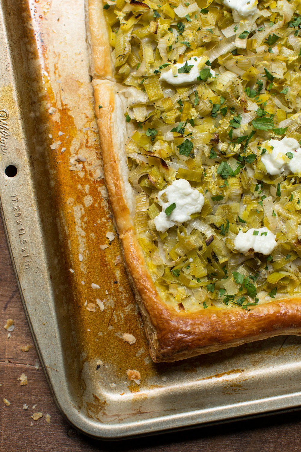 This recipe for a Leek and Goat Cheese Tart is a great vegetarian meal. Recipe can be found on CTEatsOut.com