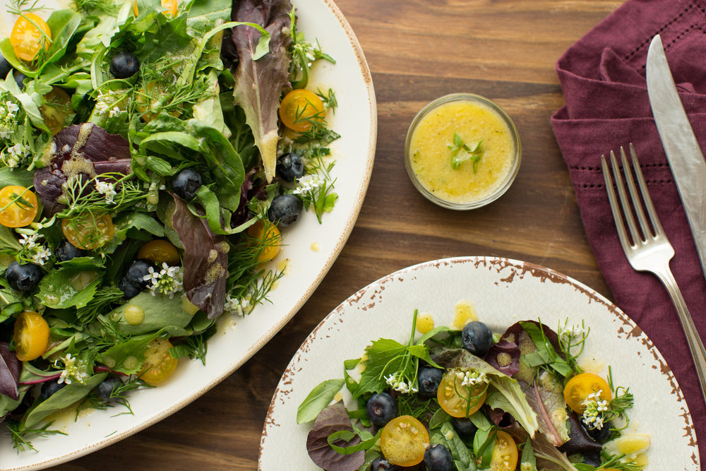 Recipe for Fresh Herb and Edible Flower Salad