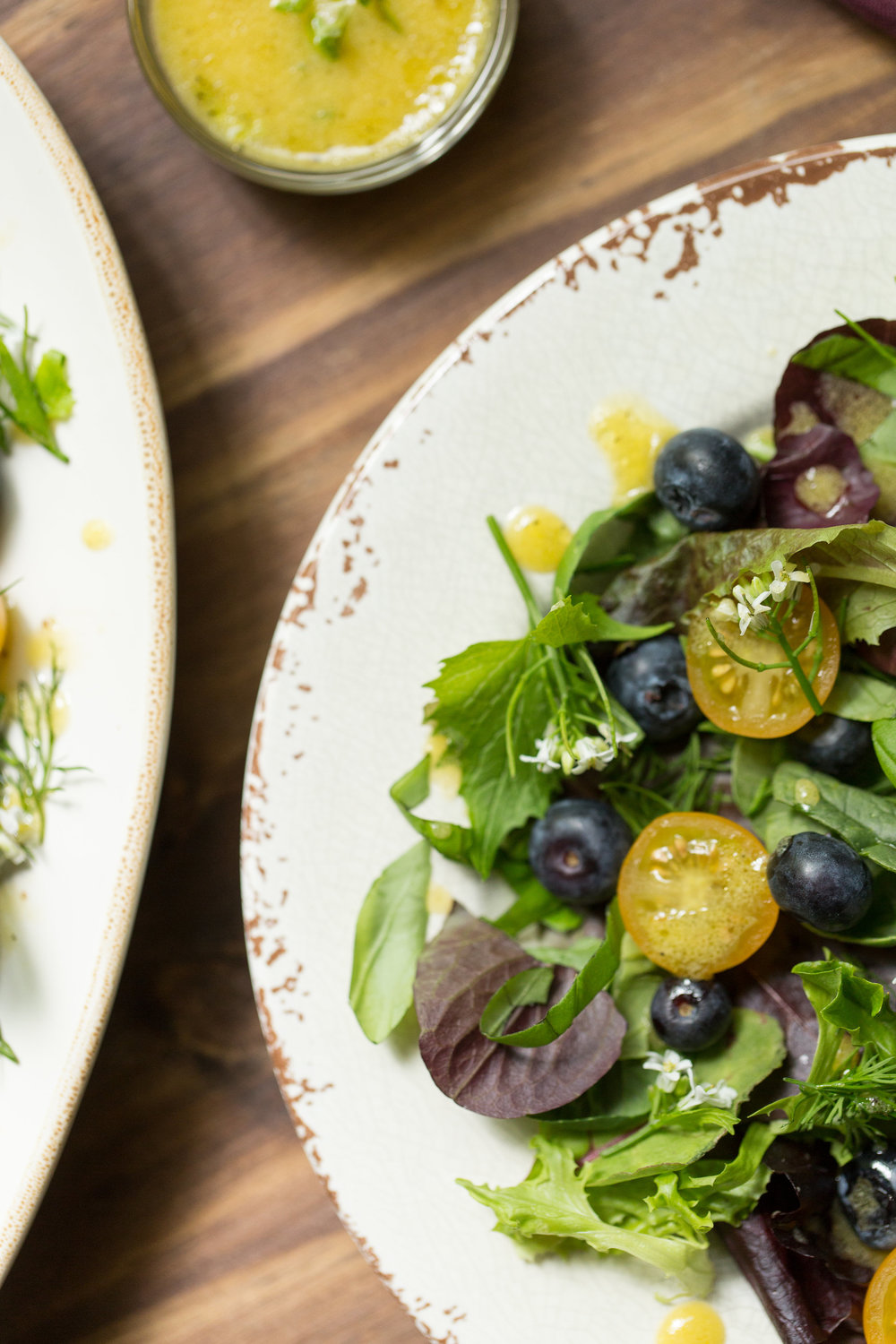 Perfect for summer, this fresh herb and edible flower salad takes advantage of everything growing in your garden. Get the recipe on CTEatsOut.com