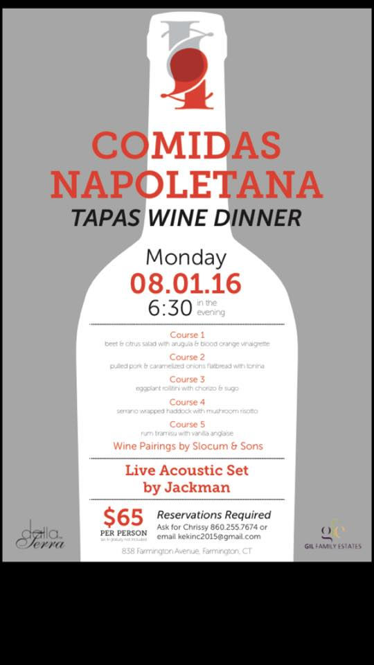 4 Eat and Drink Restaurant in Farmington CT is hosting a Tapas Dinner