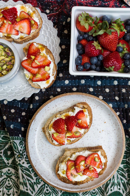 Seasonal Fruit and Ricotta Toasts Recipe | CTEatsOut.com